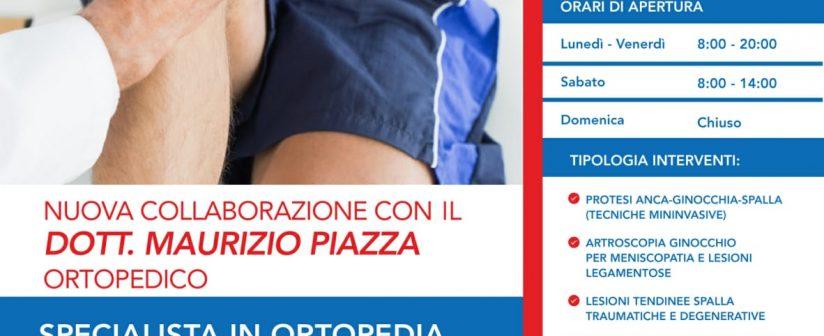 Nuova Collaborazione con Ortopedico Dott.Piazza